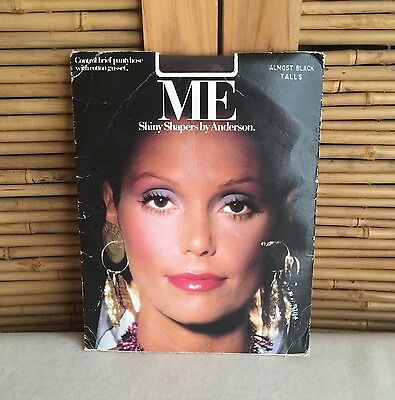 Vintage 80s 'ME' Shiny SHAPERS by ANDERSON Sheer BLACK Pantyhose ~ SEXY Model!