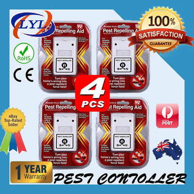 4X RIDDEX Plus Electronic Ultrasonic Pest Control, Repeller, Spiders Rats Mice