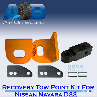 Recovery Tow Points Kit for Nissan Navara D22 with REAR RECOVERY HITCH