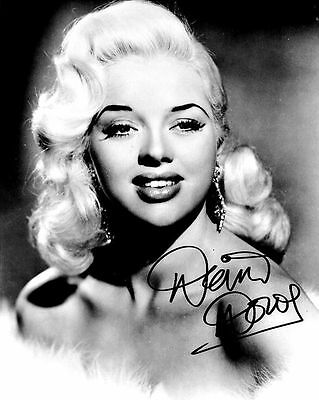 Diana Dors Autograph Signed Photo Preprint Glossy Portrait Picture