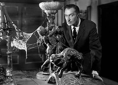 Vincent Price 2 Film Actor Glossy Black & White Photo Picture Print A4