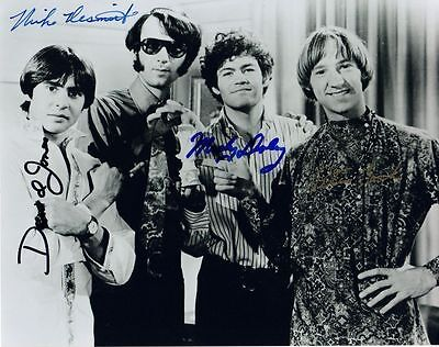 The Monkees Autograph Signed Photo Preprint Glossy Music Portrait Davy Jones
