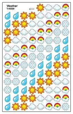 Weather superShapes Kids Reward Stickers - 8 Sheets - 6 Assorted Designs