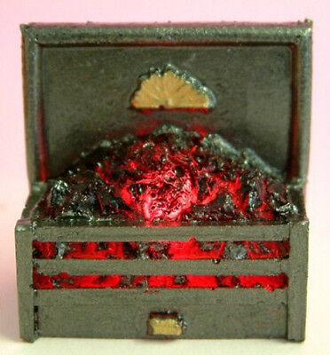 Dolls House working Fire: Firegrate with Coal in 12th scale