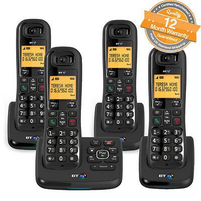 BT XD56 Quad Cordless Phones with Answering Machine and Nuisance Call Blocker