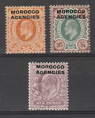 Morocco Agencies 1907 Kevii 4D Both Colours And 6D