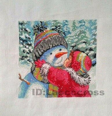 "2016 NEW Completed finished cross stitch""Snowman""Christmas sale"