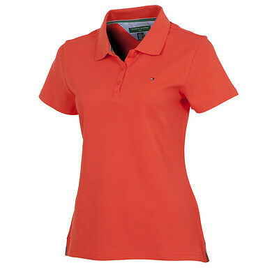 Genuine Tommy Hilfiger Golf LADIES LIZ CLASSIC SS POLO Hot Coral Med 12-14 TW108