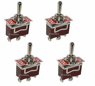 4 (ON)/OFF/(ON) SPDT 15A Toggle Switches 1/2 Mount Momentary ON/OFF/Momentary ON