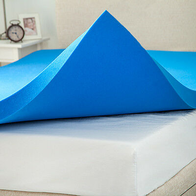 Single Bed Size 3 inch / 7.5cm Thick Gel Infused Foam Mattress Topper