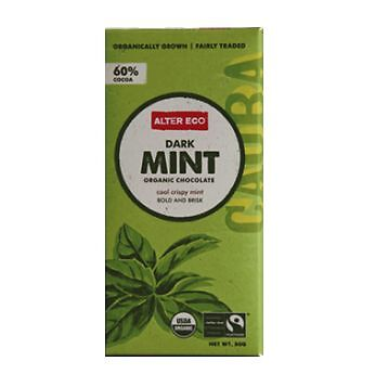 Alter Eco Organic Dark Chocolate & Mint 80g