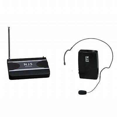New Jersey Sound VHF Head Band Radio Microphone System NJS221 (174.5 MHz)