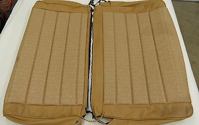 Nos Jeep Yj Wrangler Rear Bench Seat Upholstery Kit (2 Pieces) Spice Tweed