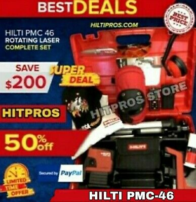 Hilti Laser Level Pmc-46 Brand New, Free Laser Meter, Extras, Fast Ship