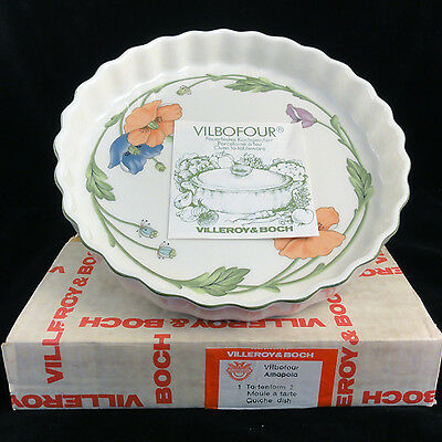"""AMAPOLA by Villeroy /& Boch Individual Quiche Dish 4.5/"""" diameter NEW NEVER USED"""