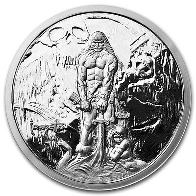 The Barbarian 5 oz .999 Silver Proof Encapsulated Round USA Made Bullion Coin