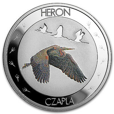 2015 Niue Silver Symbols of Nature Heron Proof - SKU #97680