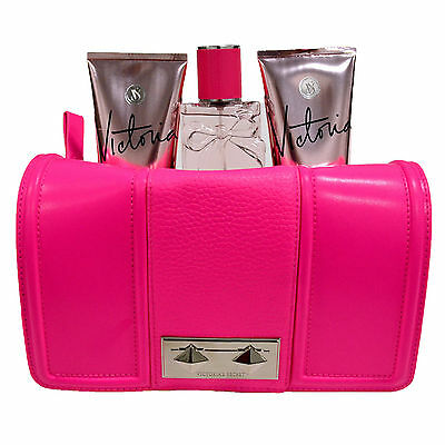 Victorias Secret Clutch Bag Purse & 3 Piece Gift Set Mist Lotion BodyWash VS New