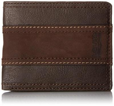 Levi's Classic Leather Bifold Id Credit Card Wallet 31lv2414 Brown