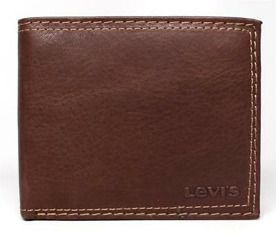 Levi's Men's Leather Credit Card Id Wallet Billfold 31lv1344 Brown