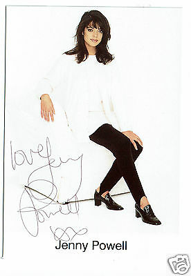 Jenny Powell  Television Presenter Hand signed Publicity Photograph 6 x 4