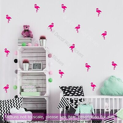 Flamingo Wall Art Stickers Removable Kids Nursery Vinyl Decals Decor 7cm X 100