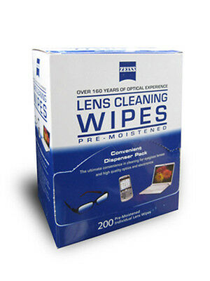 Zeiss 225ct Lens Cleaning Wipes, Cloth Packets, Glasses, Computer etc.