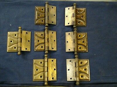 7 Reclaimed Vintage  Antique National MFG. Co. Surface mount ball hinges. LH RH