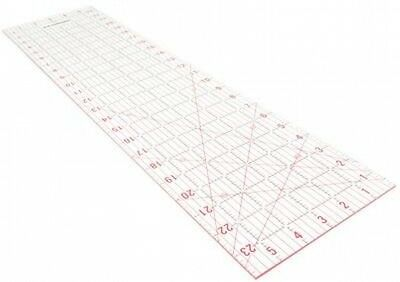 Janome Imperial Design Template Acrylic Transparent Quilting Ruler - 6 x 24""