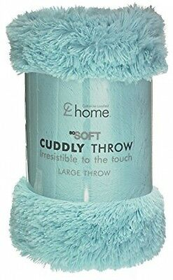 Catherine Lansfield Cuddly Super Soft Sumptuous Throw - Duckegg | 150 x 200