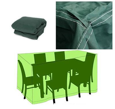 Garden Outdoor Furniture Waterproof Breathable Dust Cover Rattan Table Chair SET