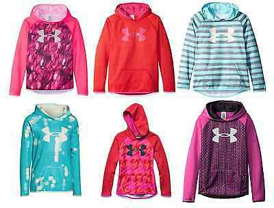 Under Armour Girls Armour Fleece Printed Big Logo Hoody 1265688 Medium Large XL