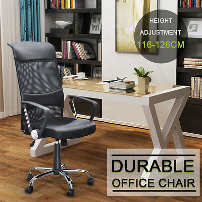 Executive Swivel Office Chair Mesh Seat Adjustable Computer Desk Chair High Back