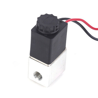 """1/4"""" 2 Way Normally Closed Pneumatic Aluminum Electric Solenoid Air Valve 12V DC"""