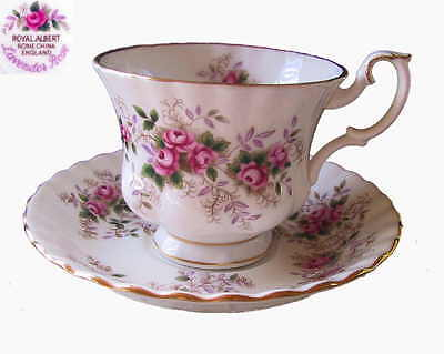 Royal Albert LAVENDER ROSE 2pc Set Cup & Saucer 1st Eng c1993
