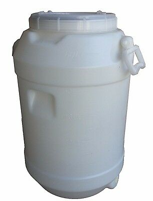 60 lt Litre Water Storage Container Plastic Fermenter Drum Barrel Tank Home Brew