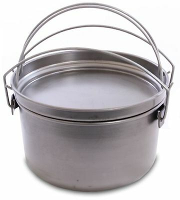 Camp Oven JUMBO Spun Carbon Steel 15 inch 4 in 1 Frypan Hang Pan Boiling Pot