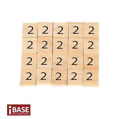 20x Wooden Number 2 Scrabble Tiles Scrapbooking Handcraft Letter set Formular