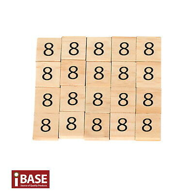 20x Wooden Number 8 Scrabble Tiles Scrapbooking Handcraft Letter set Formular