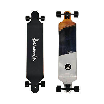 "BLACKHAWK 39x8.75"" 8Ply Maple Deck ABEC-7 Longboard Cruiser Complete Skateboard"