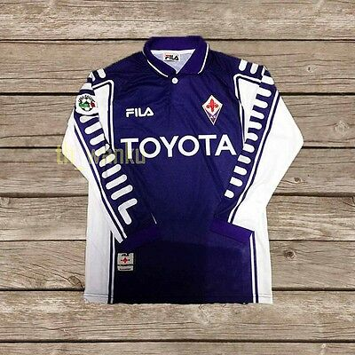 Fiorentina 1999-2000 BATISTUTA #9 Retro Football Shirt Jersey Calcio M L XL