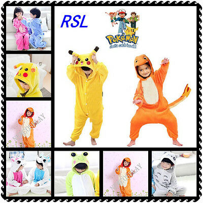 Cartoon Animal Pokemon Pikachu Onesies for Children Onesie Pajamas Jumpsuit Hood
