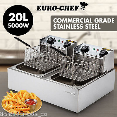 5 Star Chef Electric Commercial Deep Fryer Double Twin Basket Steel Cooker Fry