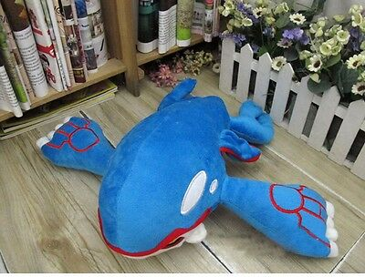 37CM Pocket Monster Pokemon Kyogre Plush Stuffed Animal Toy Doll Soft Kids Gift