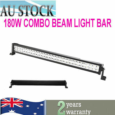 32inch 180W Led Work Light Bar combo beam 4x4 4WD Offroad SUV Boat Driving