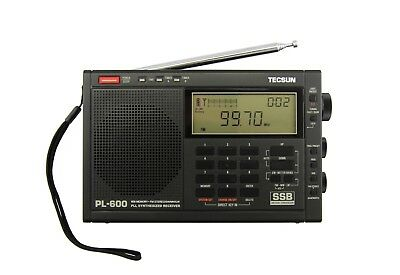 Tecsun PL-600 SSB PLL World Band Radio Receiver FM/MW/SW     BLACK