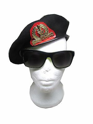 Beret hat cap army Military black A special idf Israeli Infantry officer caps