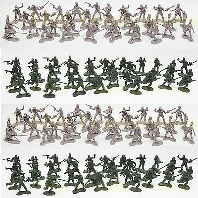 2 INCHES!   72 Pc - ARMY MEN TOY SOLDIER MILITARY FORCE GREEN PLASTIC FIGURINEs
