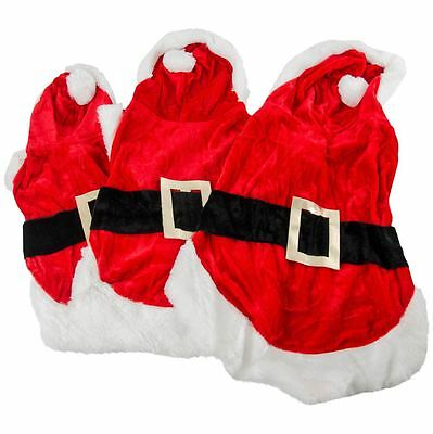 Dog Santa Suit Fancy Dress Costume Pet Clothing