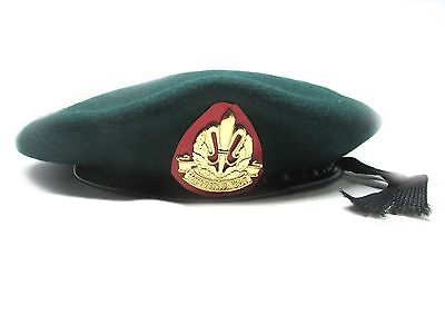 Beret Hat Cap Army Green Military idf Israeli Intelligence Corps Officer Hats
